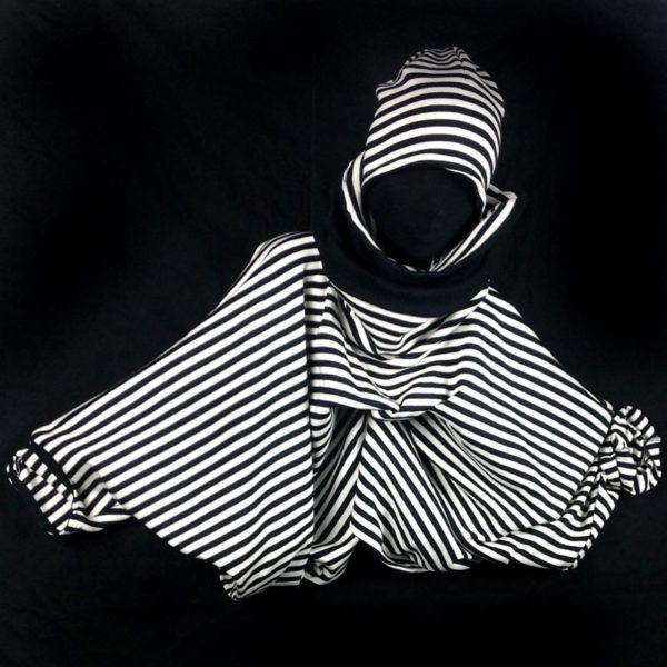 Kopfbedeckung in schwarz-weiß von MilaStyle