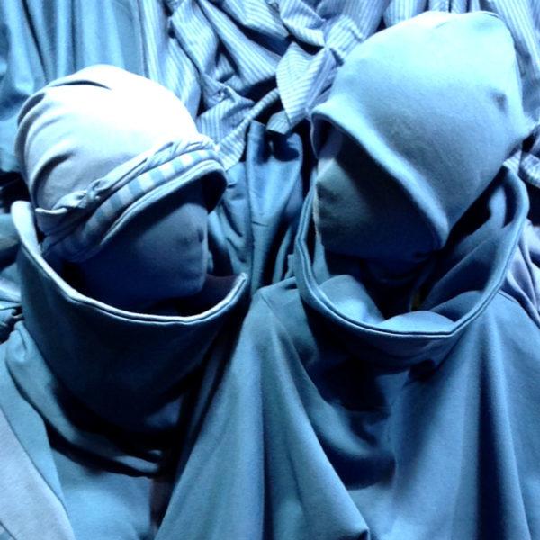 Blaue ausgefallene Kopfbedeckungen von MilaStyle