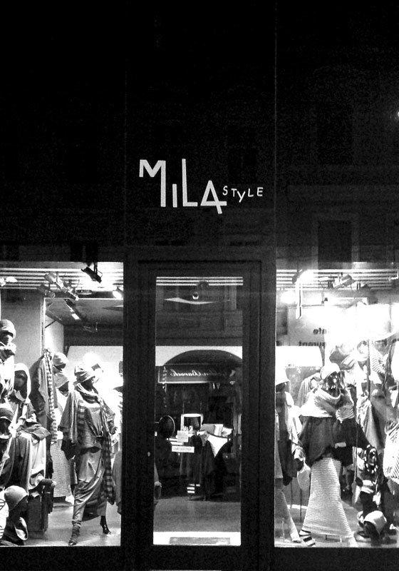 Die Modeboutique MilaStyle in Wien von außen